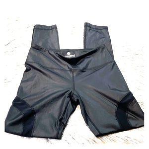 90 degree black shiny leggings size S